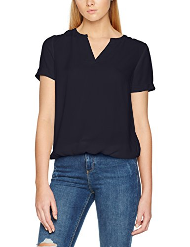 Tom Tailor Casual Dobby Structured, Blouse Femme Bleu (Real Navy Blue 6593)