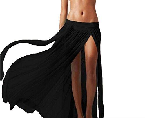 Copri Costume Da Bagno Sexy Bikini Pura Pannello Esterno Della Spiaggia Maxi Velo Vestito Cover - Multicolore - Nero, taglia unica