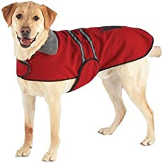 Casual Canine Fleece-Lined Reflective Dog Jacket for Safety
