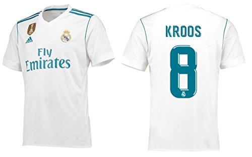 Real Madrid Trikot Kinder 2017-2018 Home WC - Kroos 8 (152) (Real Madrid Wc)