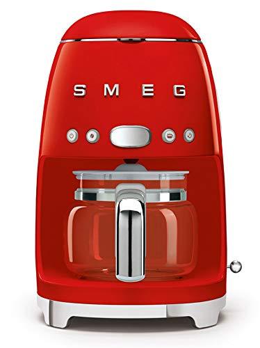 Smeg DCF01RDEU cafetera Espresso, 1050 W, 1.4 litros, De plástico, Acero Inoxidable, Rojo