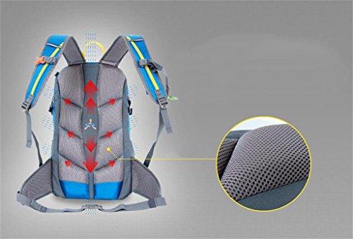 Bergsteiger-Rucksack Tasche Männer und Frauen tragen leichte atmungsaktive wasserdichte Tasche 25L30L Reiten Rot