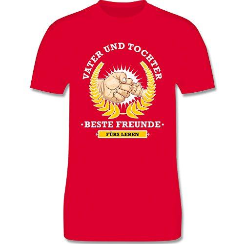 Vatertag - Vater und Tochter - beste Freunde fürs Leben - Herren Premium T-Shirt Rot