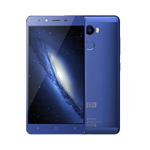[Tienda oficial Elephone] Elephone C1 4G LTE Smartphone - Android 6.0 , 5.5 pulgadas Quad Core 1.3GHz OTG 2GB RAM 16GB ROM con huella digital azul