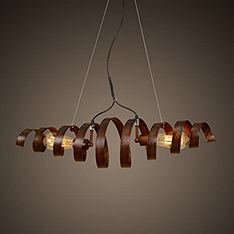 LJSYYR Sepia creativo restaurante salón lámpara Candelabro candelabros de hierro en espiral