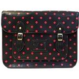 "Large YASMIN BAGS 13.5"" Vintage Polka Dot Spotty Satchel/Cross Body Bag with FREE YASMIN BAGS trolley/locker coin keychain"