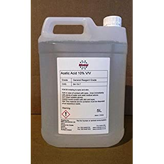 5L Mistral Acetic Acid 10% (Ethanoic Acid) - Descaler, Weed Killer, Rust and Limescale Remover