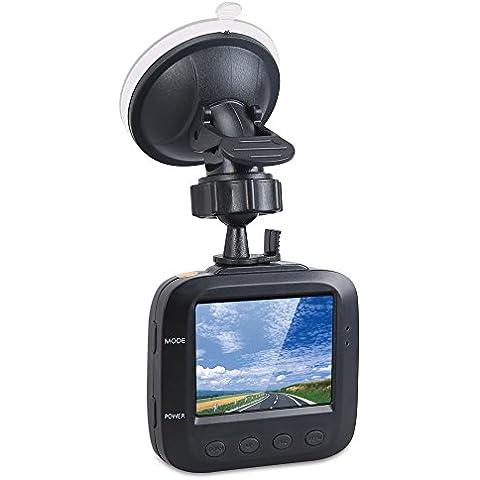 HD DVR Coche Grabador, 2.4 Pulgadas Seamless Dash CAM Caja Negra, Portable salpicadero videocamara con el apoyo de 32 GB tarjeta, Parking monitor, grabacion de loops, vision nocturna por infrarrojos, Car Dash camara para