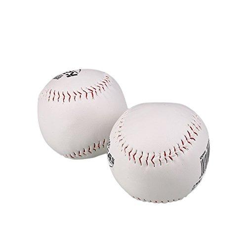 Forfar Übung & Trainning Baseball Softball 2Stk Trainieren BaseBall Sport Softball Übung Base Ball Weiches Leder Weiße Outdoor Aktivität