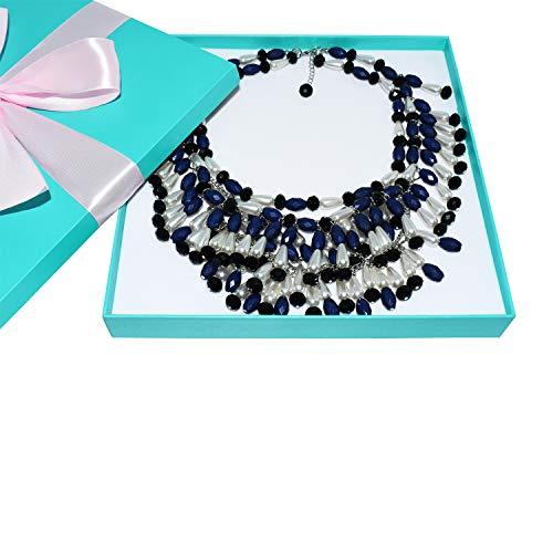 Holly Golightly Lätzchen-Halskette, mehrstufig, Audrey Hepburn Breakfast at Tiffany's