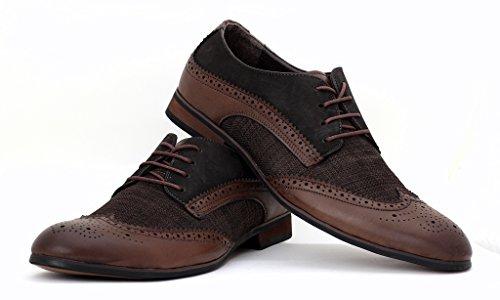 Hommes Brogue élégant Chaussures De Bureau Décontracté Robe Mariage Fête UK taille Café