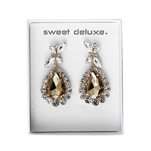Sweet Deluxe Box Princess Style Topaz I Schmuckset für Damen I Modeschmuck Set für Frauen I modisches Design Accessoires Set