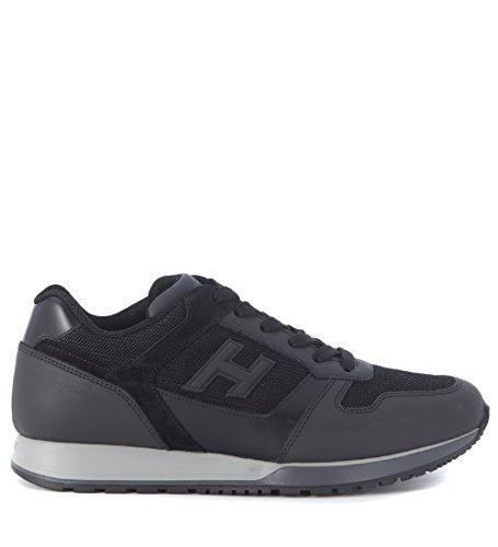 Sneaker Hogan H321 in pelle nera e tessuto tecnico Nero