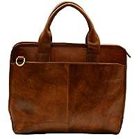 Carpeta de cuero messenger bolso hombre bolso mujer piel bolso con correa para el hombro y la mano maletin de cuero marron porta tableta