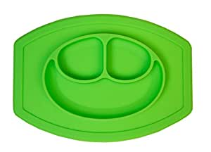 FabSeasons Silicone Food Grade, Non-Toxic and BPA Free Suction Base Plate + Placemat 2in1 for Toddlers (Read Description for Details)