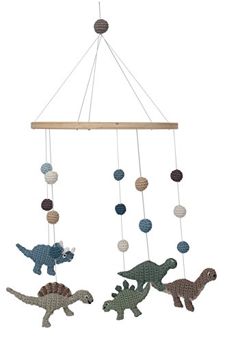Sebra - Mobile - Windspiel - Dinosaurier - Dinos - Baumwolle - Höhe 57 cm - Ø 22 cm