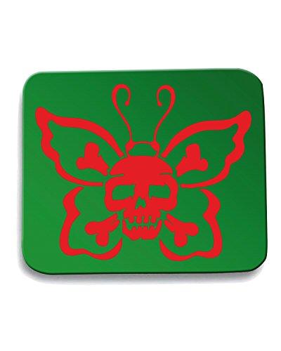 Cotton Island - Tappetino Mouse Pad FUN0418 1801 butterfly skull decal 67316, Taglia taglia unica