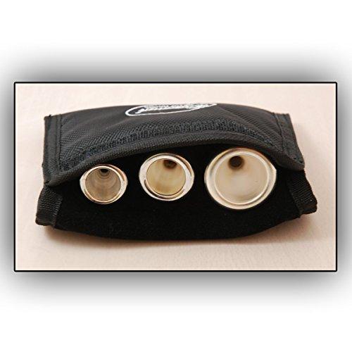 Mundstücktasche für Trompete - für 3 Mundstücke Mouthpiece Mundstück Trompete Tasche Bag Trompetenmundstücke Flügelhorn Kornett Waldhorn