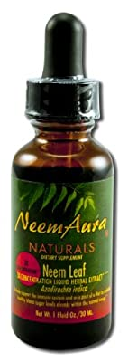 Neem Leaf, 3X Concentration, Extract, 1 fl oz (30 ml) from Neemaura Naturals Inc