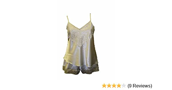 Womens Luxury Satin Camisole Cami French Knicker Set Various Colours Size 10-26