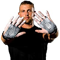 Bear KompleX 3 Hole Hand Grips and Gymnastics Grips Great for Cross Fitness, pullups, Weight Lifting, Chin ups, Training, Exercise, Kettlebell, More. Protect Your Palms from rips! Carbon
