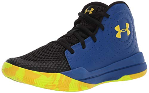 Under Armour Unisex-Kinder Grade School Jet 2019 Basketballschuhe, Blau (Royal/Black/Taxi (404) 404), 38.5 EU