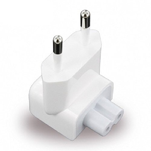 Electomania 2 pins Indian Style/Euro Style Plug Adapter for Power Adapters for Apple Pro, Air, iPod, Apple MacBook, Powerbook, iPhone, iPad, iBook