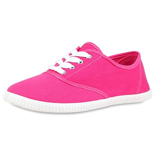 best-boots Damen Ballerinas Sneaker Schnürer Slipper Halbschuhe Sportlich Damen Sneakers Pink Rosa Nuovo 37