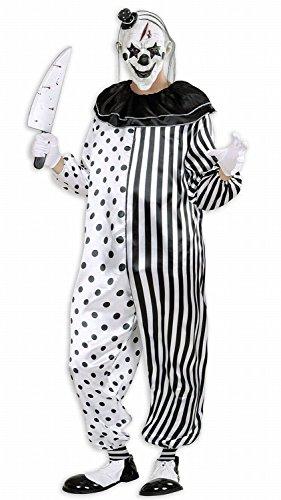 Im Clown Anzug (Widmann 01614 - Erwachsenenkostüm Killer Pierrot, Overall, Gröߟe)