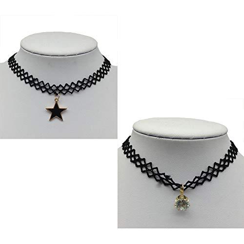 OOFAY Lady Strickkette, Gothic gehällte Spitze Halskette verstellbare Anhänger Halskette Halskette für Mädchen Frau ()