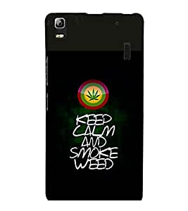 printtech Keep Calm Quotes Weed Back Case Cover for Lenovo K3 Note
