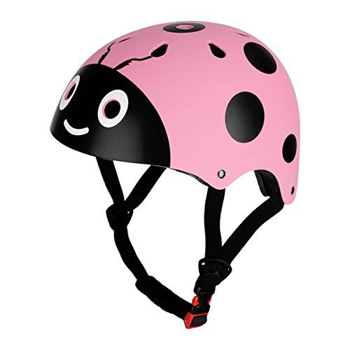 CHICTRY Casco Bicicleta Infantil Ciclismo Casco de Seguridad para Niños Ajustable Casco de Animal Unisex Protección Patines Niños Rosa One Size