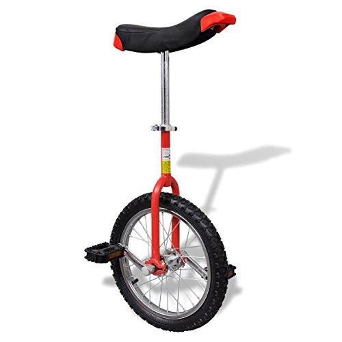 vidaXL Einstellbares Einrad 40,7 cm rot
