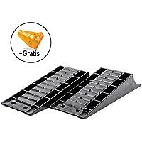 Froli Ausgleich, Auffahr-Keil 2er Set - bis 4000 kg, 45 x 16 x 8 cm für Wohnwagen oder Wohnmobil