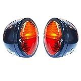 Bajato 2 x Vintage Rücklicht Lampe mit Lizenz Platte Fenster Traktor Trailer Truck 12 V -11000801 A