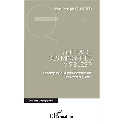 Que faire des minorités visibles ?: L'exemple de Gaston Monnerville Président du Sénat (Questions contemporaines)