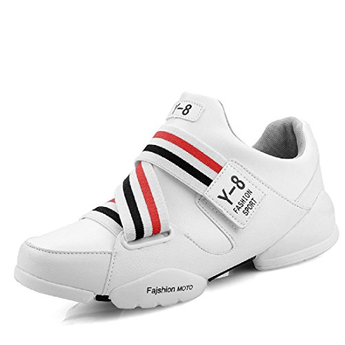 Herren Sportschuhe Erhöht wasserdicht Rutschfest Basketball Schuhe Turnschuhe White