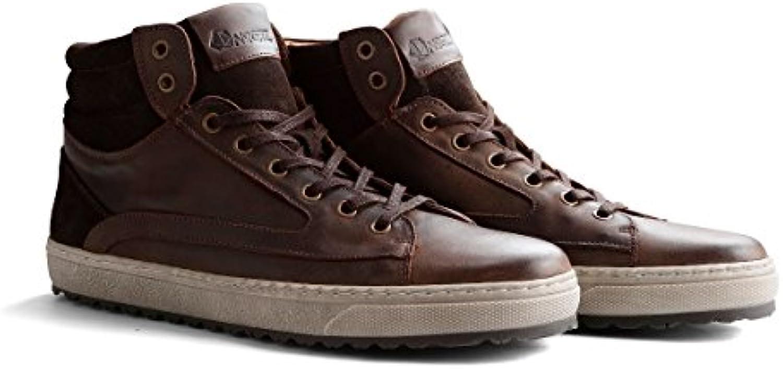 NoGRZ P.Harrison Halbhoher Herren Leder Sneakers | Cognac/Dunkelbraun/DunkelgrauNoGRZ P Harrison Halbhoher Sneakers Dunkelbraun