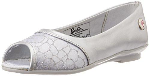 Barbie Girl's Silver Espadrille Ballet Flats - 3C UK