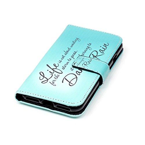 Custodia iPhone 7, iPhone 7 Cover, iPhone 7 Flip Cover, Cozy Hut cassa del raccoglitore per iPhone 7/7G, pelle artificiale PU copertura protettiva caso di caso di vibrazione del libro del foglio porta vita Blu