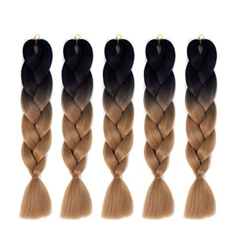 5pcs trenzar extensiones cabello - Jumbo Ombre Trenzado