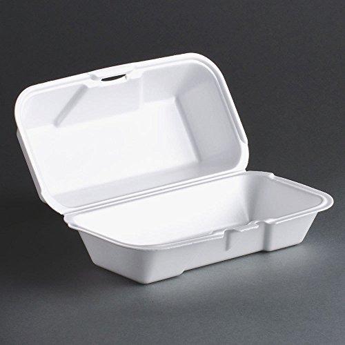 Genpak 21600 8 1/2 x 4 x 3 Medium Foam Hoagie / Sub Container 500/CS by Genpak Hoagie Container