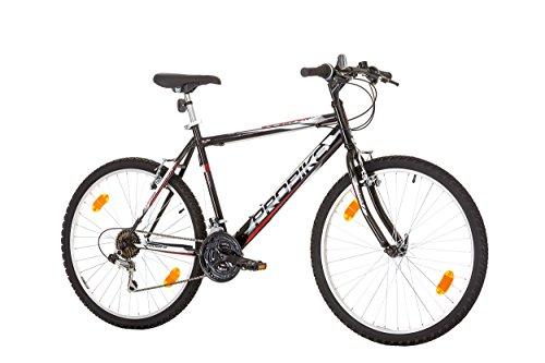 CoollooK PROBIKE 26 Zoll Fahrrad Felge Mountainbike MTB Schwarz Glanz Starren Rahmen Fahrradherren Rad Bike Cycling 18-GANG EU-PRODUKT (Schwarz) Schaltung mit Beleuchtung nach STVO