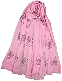 Claudia & Jason® Animal Print Scarf : Pug Pugs Dogs - Large Size - All Seasons Scarf - Gift Idea for Pug Lovers