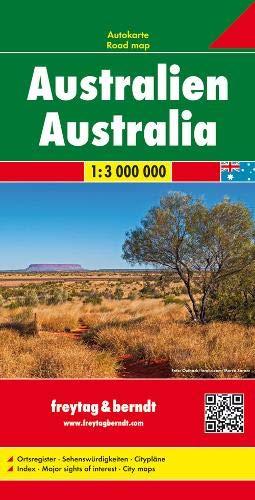 Australien, Autokarte 1:3 Mio.: Wegenkaart 1:3 000 000 (freytag & berndt Auto + Freizeitkarten) - Karte Von Australien
