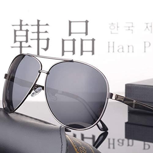 LKVNHP 150Mm Übergröße Aviation Polarized Sonnenbrille Herren Schwarz Driving Sonnenbrille Für Herren Large Anti Polar Uv400Grau