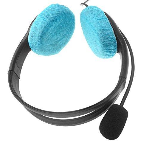 FoRapid Einweg-Kopfhörer-Abdeckungen für Ohrenschützer / On-Ear-Headsets, dehnbar, Blau, 40 Stück / 20 Paar - Kostengünstige Einweg