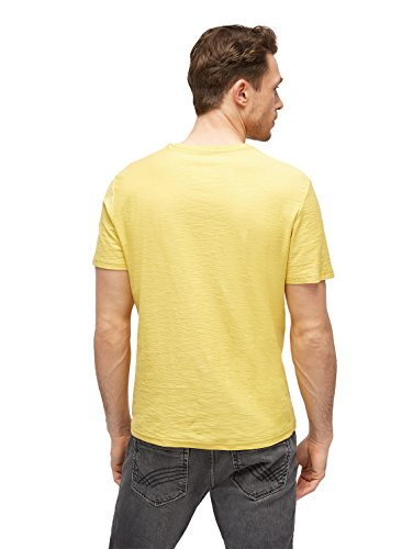 TOM TAILOR Herren Slub T-Shirt With Print sapphire yellow