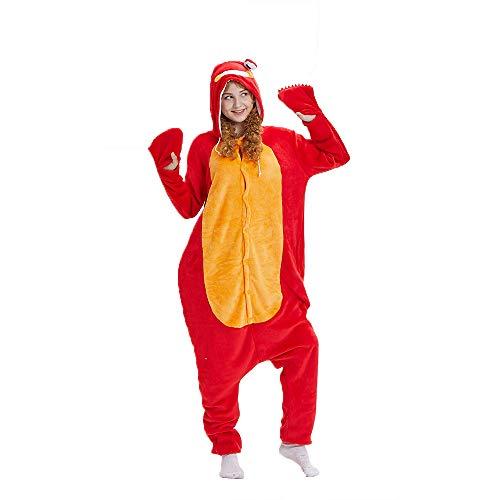 (NN IKEA Schlafanzug Tierkostüme Pyjamas Cartoon Cosplay Weihnachten Karneval,Red,S)