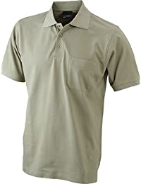 Men's Polo Pocket/James & Nicholson (JN 922) S M L XL XXL 3XL